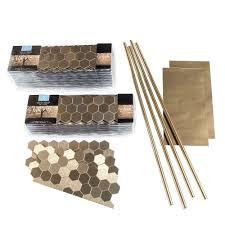 amazon com aspect peel and stick backsplash 11in x 4in honeycomb