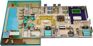 home plans with pools 3d floor plan serendipity at indian creek