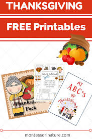 thanksgiving activity printables free thanksgiving preschool printables montessori nature