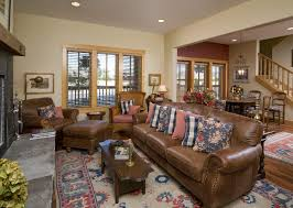 Area Rugs With Brown Leather Furniture Brown Leather Couch Living Room Traditional With Area Rug