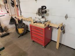 diy miter saw stand dan u0027s hobbies