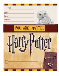 harry potter free printable party invitations simply click and