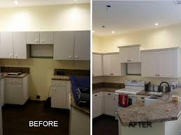 Resurfacing Kitchen Cabinets Before And After Before U0026 After Pictures Of Kitchen Cabinet Refacing Call Now For