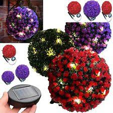 Light Up Topiary Balls - solar topiary ebay