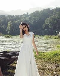 wedding dress di bali yuni shara pamer dalaman cdnya ngintip saat syuting