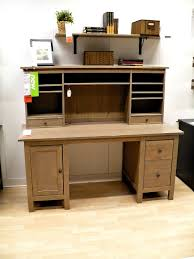 Desk Hutch Ideas Furniture Oak Wood Desk With Hutch On Cozy Parkay Floor