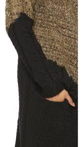Black Drape Front Cardigan Thakoon Addition Fringe Drape Front Cardigan Brown Black In