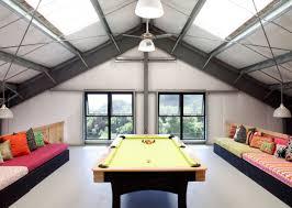 attic designs captivating attic lounge room interior design with billiard plus
