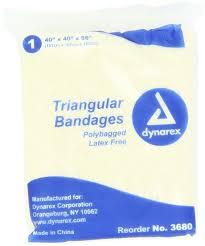 amazon com dynarex 12 triangular bandage 40x40x56 12 count