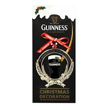 guinness guinness pint mistletoe ornament from