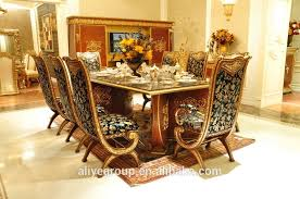 Carved Dining Table And Chairs Aas46500 Royal Design Italian Style Dining Table Set Luxury Wooden