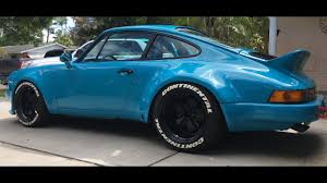 porsche 964 wide body miami blue wide body porsche 911 3 3 short stroke lightweight