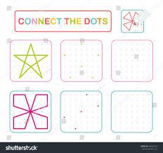 vector connect dots educational game preschool stock vector