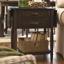 drop leaf end table paula deen by universal down home drop leaf end table with 2 drawers
