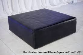 Leather Ottoman With Storage And Tray by Ottoman Dazzling Oversized Black Leather Ottoman Square