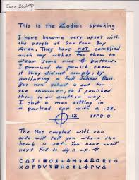 Colors Of The Zodiac by Examine A Real Letter From The Zodiac Killer Chud Com