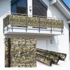 balkon abdeckung pvc balkon sichtschutz sichtschutzfolie stein 6x0 75m