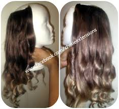 invisible hair balayage dip dye 8a remy ombre balayage human invisible hair