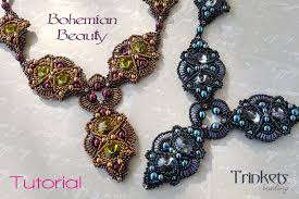 beads design necklace images Beading pattern necklace 39 bohemian beauty 39 trinkets beading jpg