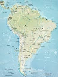 south america map atlas map of south america continent and countries brazil argentina
