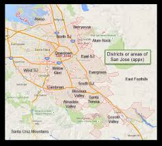 san jose unified map san jose an introduction valley of s delight