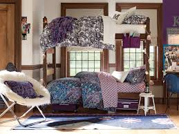 Dorm Lounge Chair Decor U0026 Tips Chic Bedding And Bunk Bed With Window Treatment Also