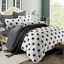 Duvet Cover Stars Low Price Selling 800t 4pc Duvet Cover Sets Black And White Stars
