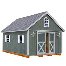 best barns belmont 12 ft x 24 ft wood storage shed kit with