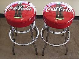 Coca Cola Chairs 2 Vintage Style Coke Coca Cola Tall Table Height Bar Stools New