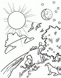 day 4 of creation coloring pages google search children u0027s