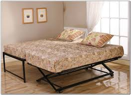 bedroom cute white daybed with pop up trundle black metal floral