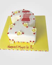 peppa pig cake peppa pig number cake pe0853 panari cakes