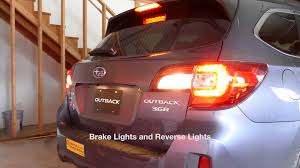 2008 subaru outback brake light bulb 2016 subaru outback limited stock tail lights youtube