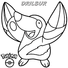 pokemon drilbur coloring print free download