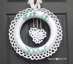 crochet winter wreath crafts will have and all