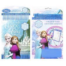disney frozen colour sticker elsa anna felt tips