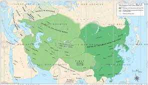 Mongolian Empire Map The Empire Of The Great Khan 1279