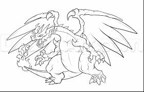 beautiful mega charizard coloring pages with charizard coloring