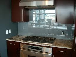 interior grey glass backsplashes for kitchens with brown wall
