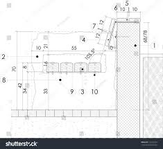 section drawing park bench stock vector 125132918 shutterstock