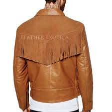 leather biker jackets for sale suede fringe detailing motorcycle jacket for men
