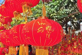 new year lanterns for sale lanterns and lucky items are for sale in the lunar new year on