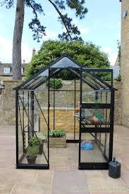 eden burford black 6x10 greenhouse horticultural