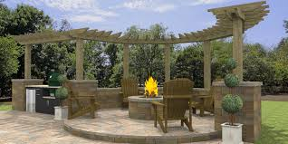 Pergola With Fire Pit by 3d Paver Patios Gallery Daniellefence Com