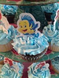 little mermaid party put half of the mix in the small cake pan to