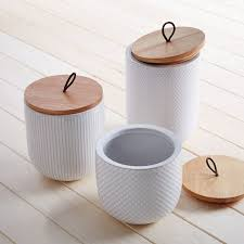 white kitchen canister textured kitchen canisters west elm