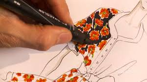 Floral Prints by How To Hand Render A Floral Print Youtube