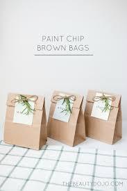 diy paint chip brown bags