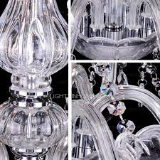 Long Hanging Chandeliers 6 Light High End Chandeliers With Electroplated Crystal
