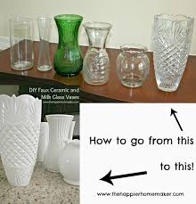 Diy Vases Diy White Faux Ceramic And Milk Glass Vases The Happier Homemaker